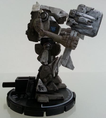 miniatura de robô mechwarrior battletech hatchetman wildcat