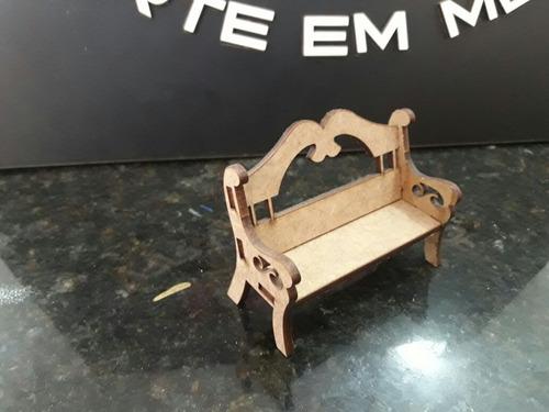 miniatura decoração berço cesta mesa banco provençal mdf