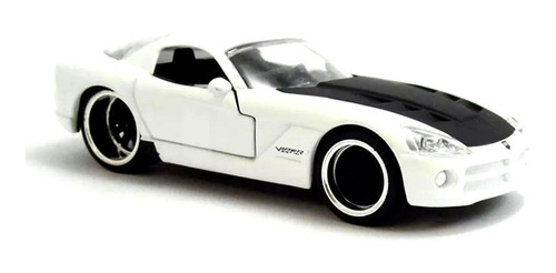 miniatura dodge viper srt10 2008 branco jada toys 1/32