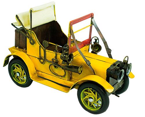 miniatura em metal dos antigos carros calhambeque - vintage