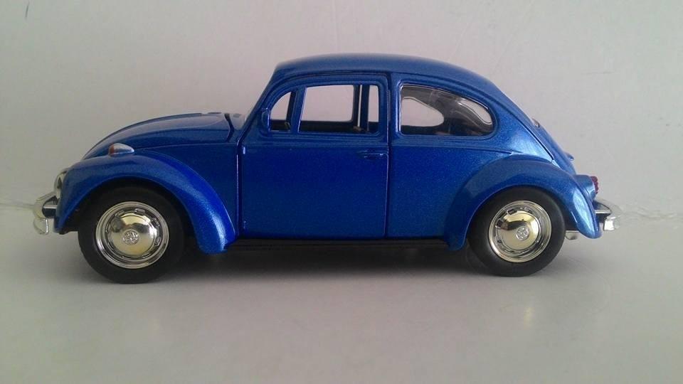 cb65480a92 Fusca Miniatura Azul Vw Escala 1.32 Rmz - R  35
