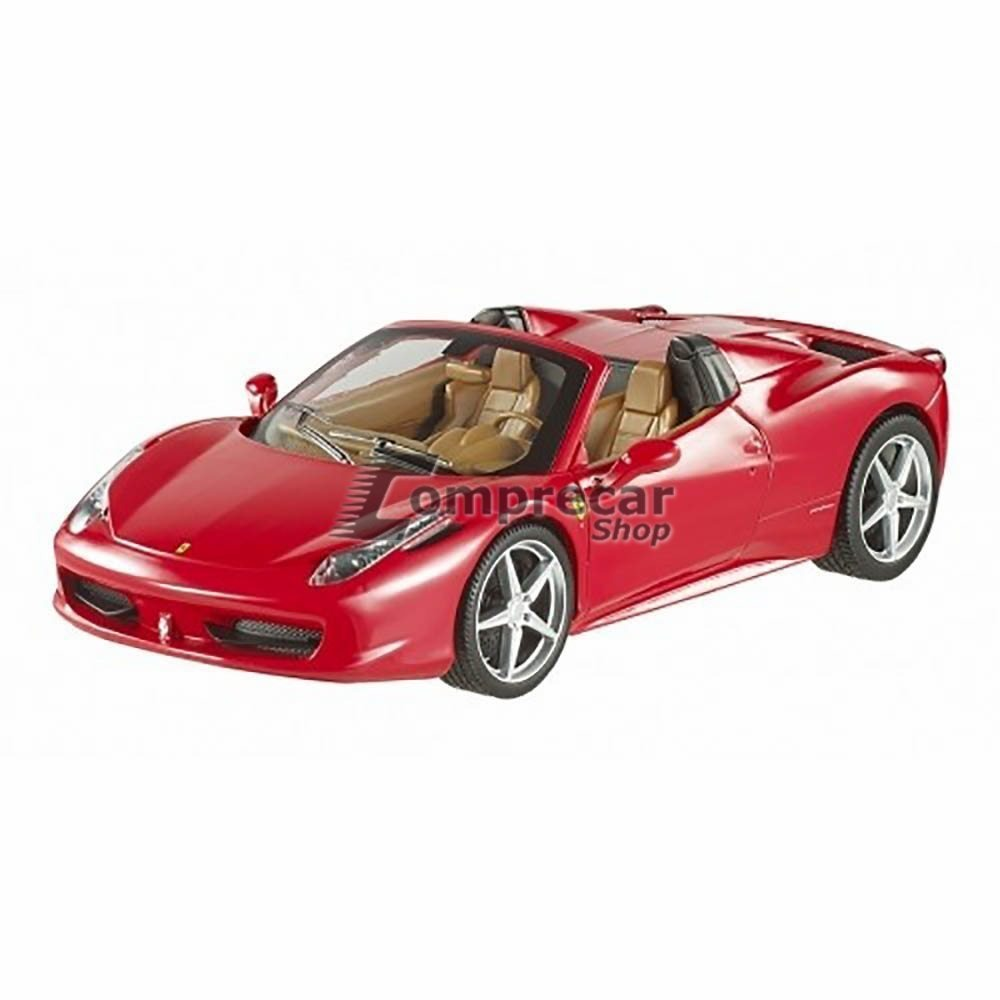 Miniatura Ferrari 458 Itália Spider Vermelho 1/24. Carregando Zoom.