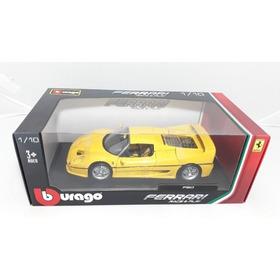 `miniatura Ferrari F50 Bburago 1:18 Amarelo