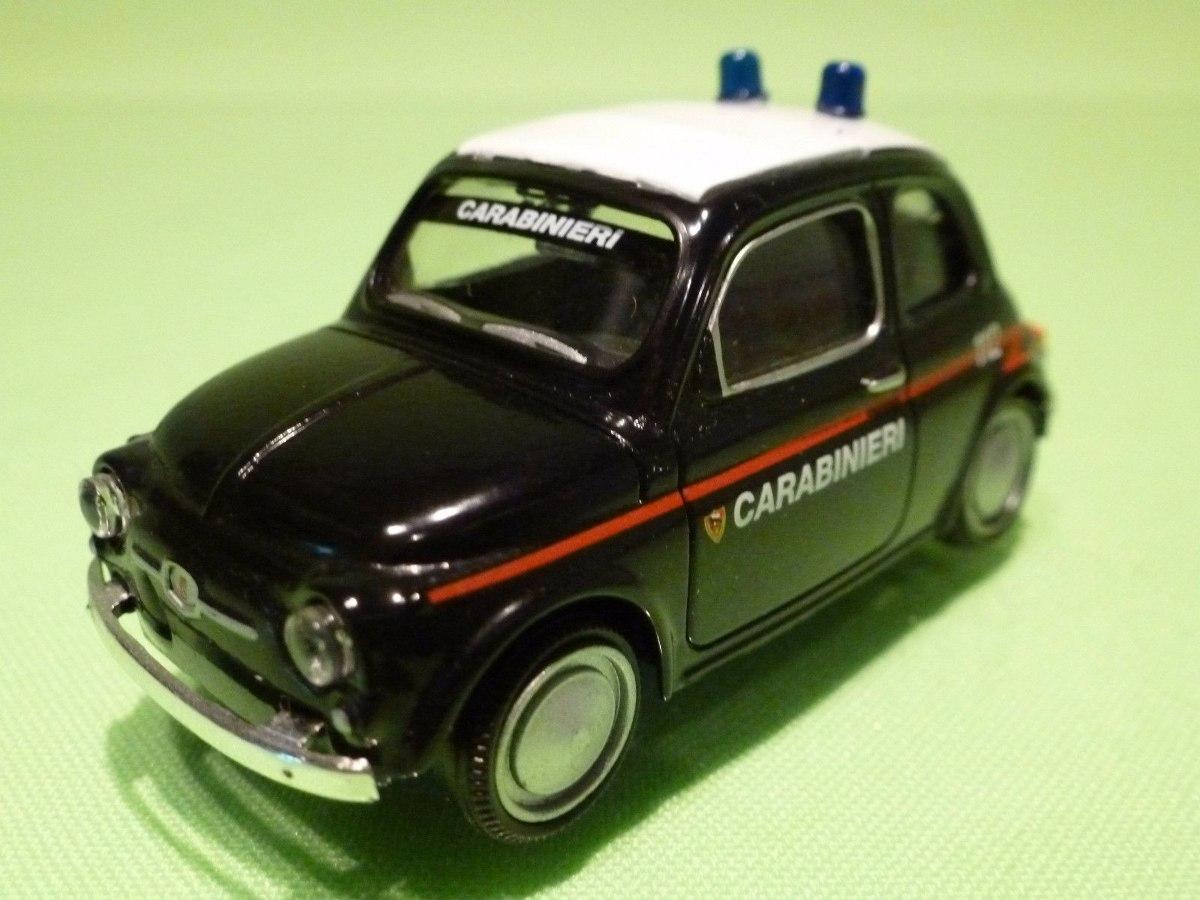 Miniatura Fiat 500 Polizia Carabinieri Mondo Motors1 43