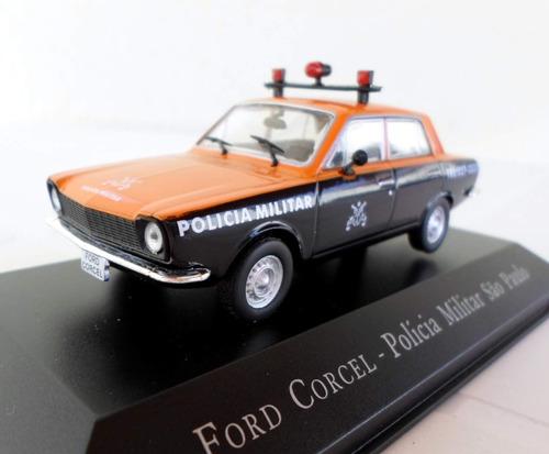miniatura ford corcel pm de são paulo - escala 1/43