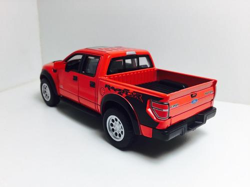miniatura ford f-150 svt raptor 2013 vermelha 1/46 kinsmart