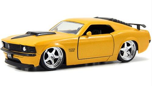 miniatura ford mustang boss 429 1970 amarelo jada toys 1/32