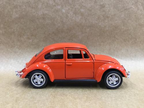 miniatura fusca 1967 cor laranja rodas esportiva