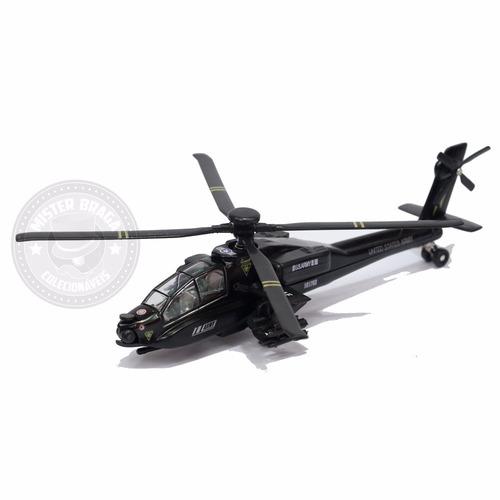 miniatura helicóptero apache americano preto