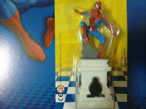 miniatura homem aranha xadrez marvel 1 + fasciculo