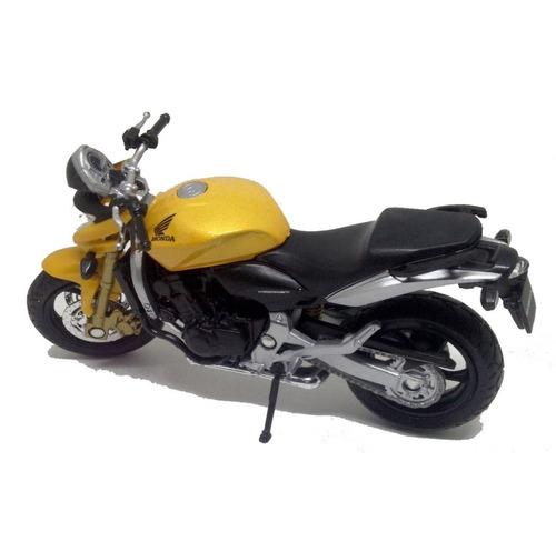 miniatura honda hornet 600 cc perfeita 1:18 de metal welly