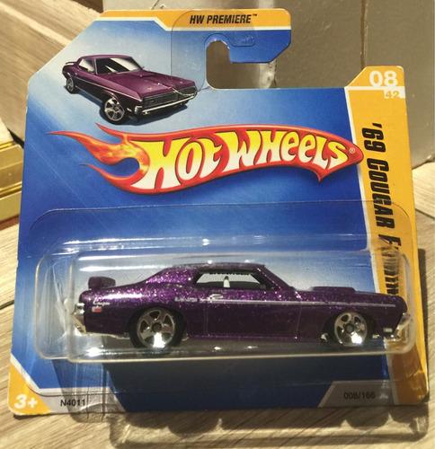 miniatura hot wheels 69 mercury cougar eliminator - 1/64