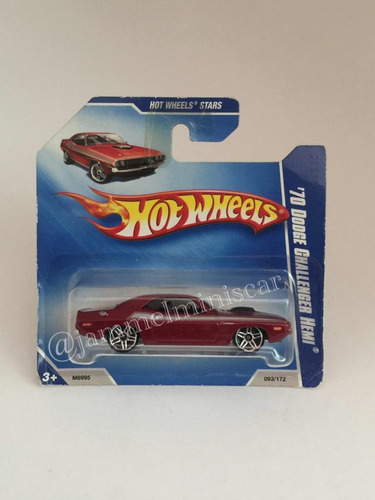 miniatura hot wheels 70 dodge challenger hemi - 1/64