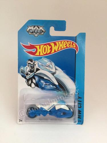 miniatura hot wheels max steel motorcycle escala 1/64