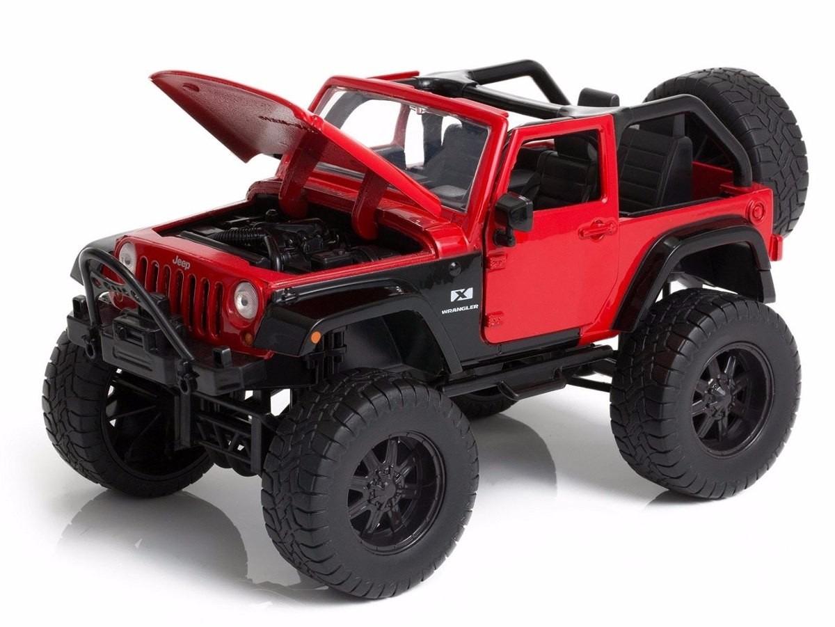 Miniatura Jeep Wrangler Truck Off Road 1/24 Crawler Metal. Carregando Zoom.