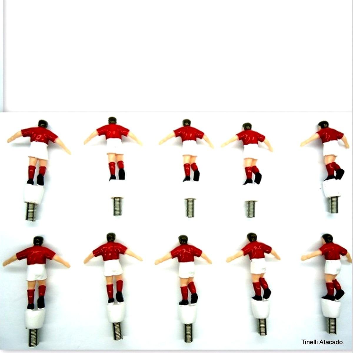 26012e29eb Miniatura Kit 10 Jogador Futebol   Decorações Festa Maquete  - R  16 ...