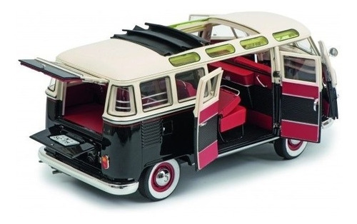 miniatura kombi volkswagen t1 samba 1963 schuco 1/18