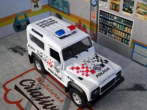 miniatura land rover defender polícia militar pm sp - atual