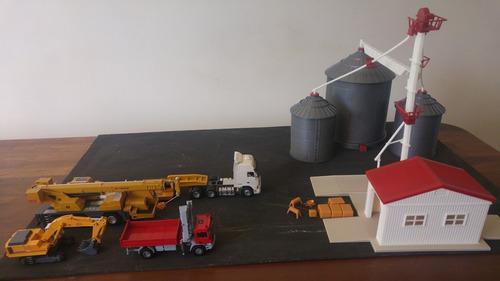 miniatura maquete kit silo escala 1/64 ertl