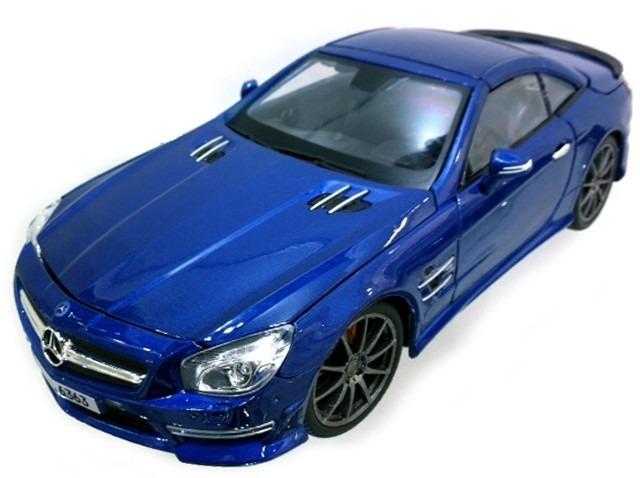 Miniatura Mercedes Benz Sl63 Amg Hard Top Azul Maisto 1/18