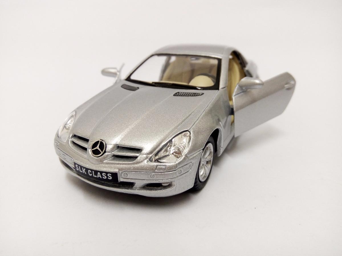 Superb Miniatura Mercedes Benz Slk Class Prata 1:32 Kinsmart. Carregando Zoom.