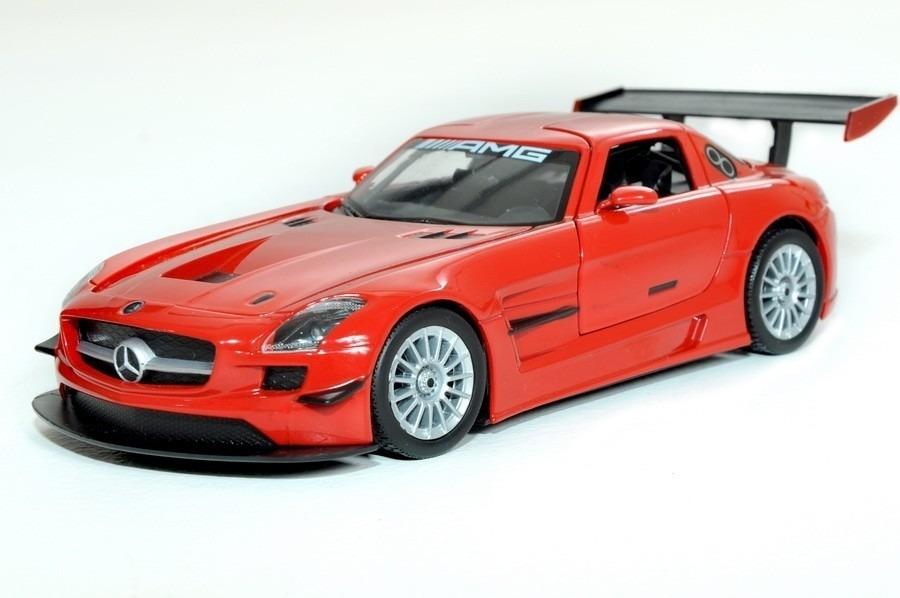 Miniatura Mercedes Benz Sls Amg Gt3 Motormax Vermelho 1/24. Carregando Zoom.