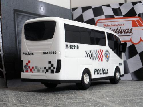 miniatura micro-ônibus polícia militar pm sp