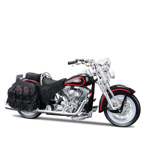 miniatura moto harley-davidson 1998 heritage spring 1:18 s31