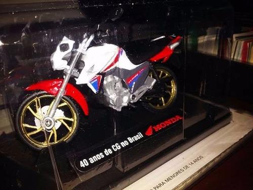 miniatura moto honda 1-18 40 anos de cg brasil