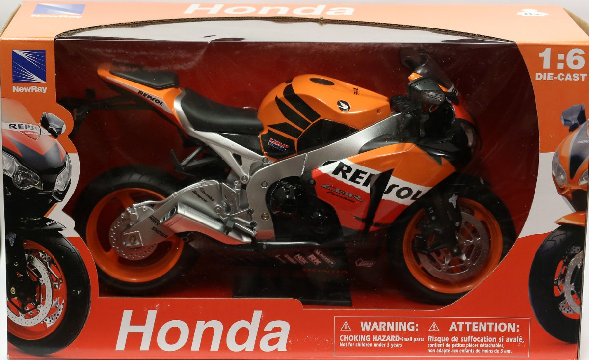 Miniatura Moto Honda Cbr 1000rr 2009 Repsol 1  6