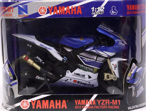 miniatura moto yamaha yzr-m1 valentino rossi  1/12