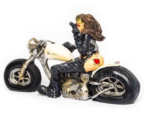 miniatura motoqueira pinup - decoração vintage
