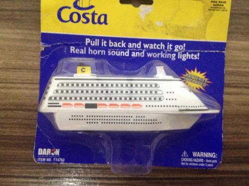 miniatura navio costa a pilha brinquedo barco