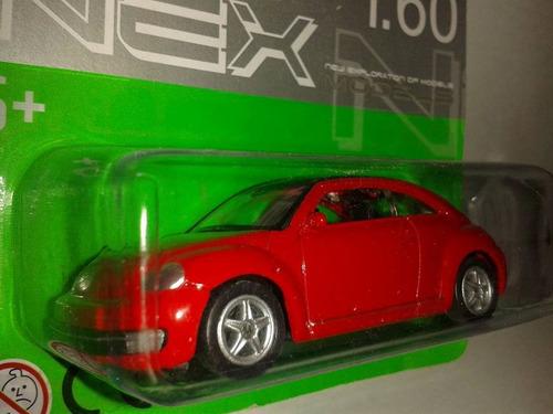 miniatura new beetle fusca escala 1:60 welly lacrado !!!