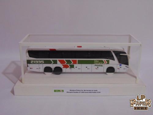 miniatura ônibus cia. são geraldo de viação marcopolo g7