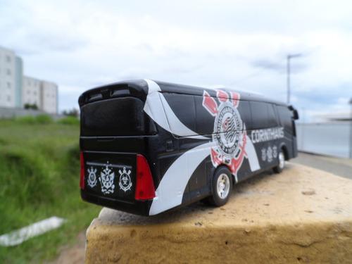 miniatura ônibus do corinthians em metal - time de futebol