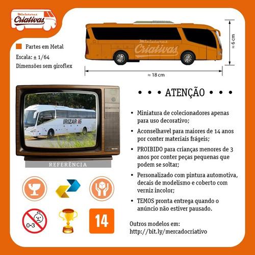 miniatura ônibus do flamengo crf - em metal time de futebol