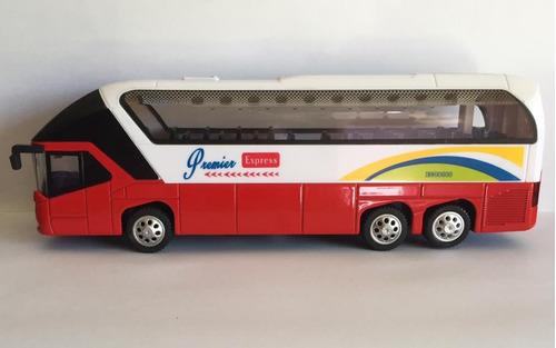 miniatura ônibus premier express com luz e som