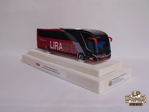miniatura ônibus viação lirabus marcopolo paradiso g7