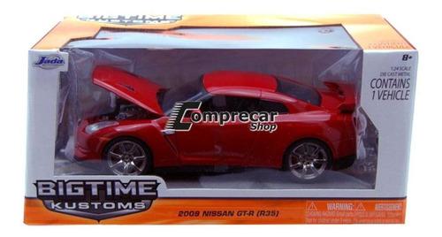 miniatura nissan gt-r (r35) 2009 vermelho jada toys 1/24