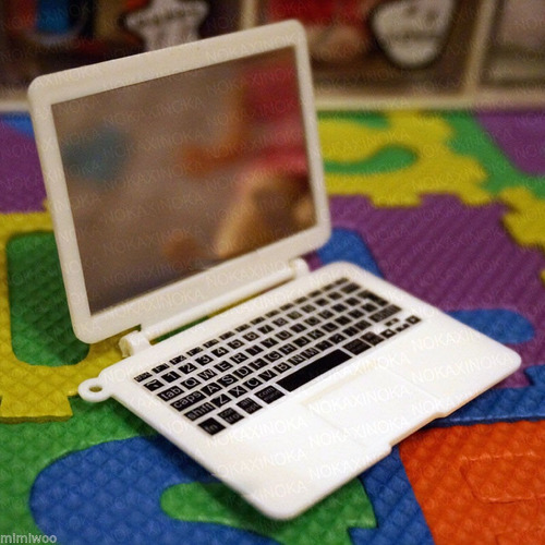 miniatura notebook branco para boneca blythe * pullip dal
