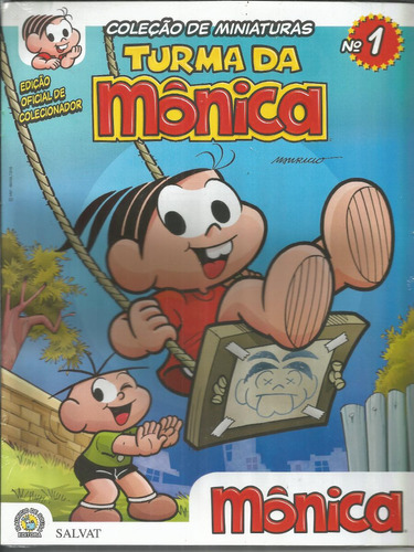 miniatura oficial turma da monica 01 monica - bonellihq k17