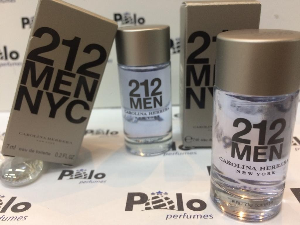 70f369292 miniatura perfume importado 212 men edt 7ml carolina herrera. Carregando  zoom.