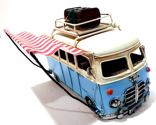 miniatura perua kombi food truck retrô 6174