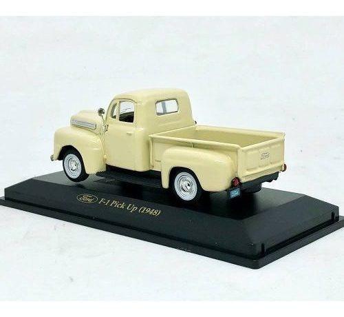 miniatura picape ford f-1 1948 creme 1:43 yat ming 94212
