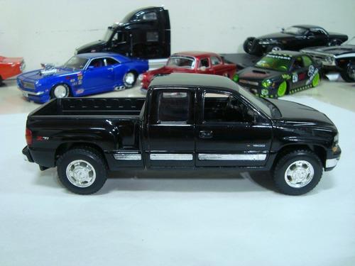 miniatura pickup chevrolet silverado 1999 1/24 welly #avl387