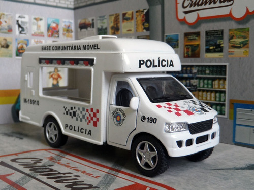 miniatura polícia militar pm sp base comunitária móvel atual