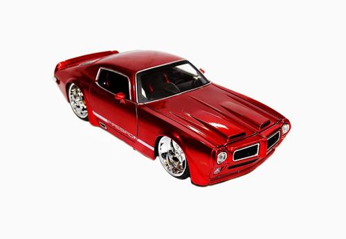 miniatura pontiac firebird 1970 1/24 jada vermelho