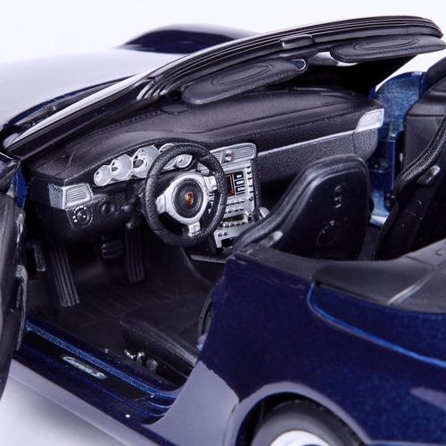 miniatura porsche 911 carrera s azul 1:18 maisto
