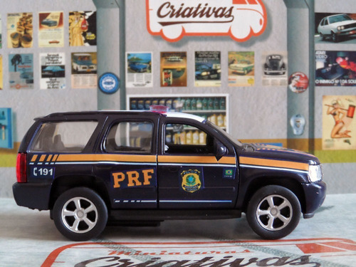 miniatura prf polícia rodoviária federal - blazer tahoe